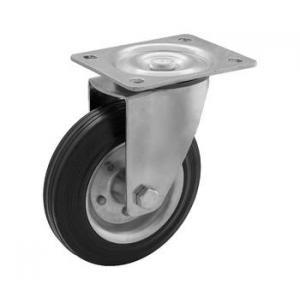 Zestaw obrotowy fi 100 mm - koło metalowo - gumowe