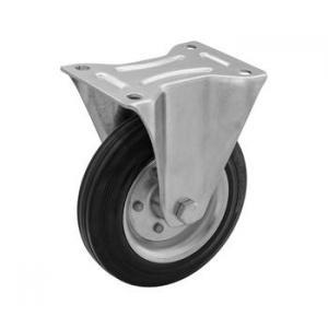 Zestaw stały fi 125 mm - koło metalowo - gumowe