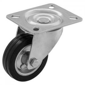 Zestaw obrotowy fi 80 mm - koło metalowo - gumowe