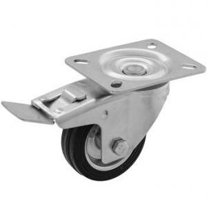 Zestaw obrotowy z hamulcem fi 80 - koło metalowo - gumowe