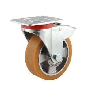 Zestaw obrotowy z hamulcem aluminium poliuretan fi 125 mm - 350kg