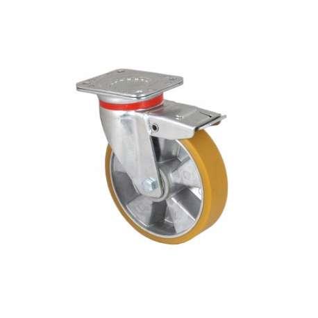 Zestaw obrotowy z hamulcem aluminium poliuretan fi 200 mm