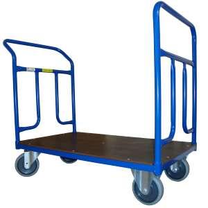 Wózek platformowy 1000x700 z dwoma rączkami, 300 kg