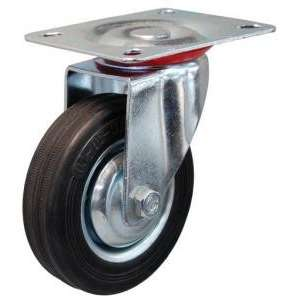Zestaw obrotowy fi 75 mm - koło metalowo - gumowe