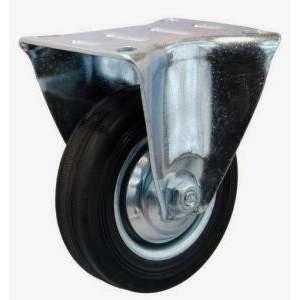 Zestaw stały fi 75 mm koło metalowo - gumowe