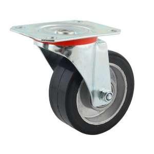 Zestaw kołowy obrotowy aluminium-guma fi 80 mm