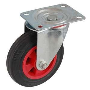 Z kołem poliamidowo-gumowym fi 200 mm