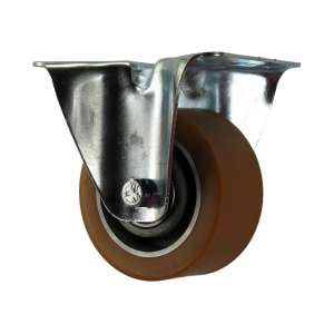 Zestaw stały fi 100 mm - koło aluminiowo - gumowe