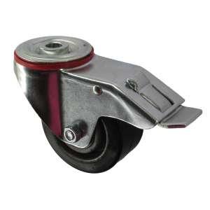 Zestaw obrotowy na otwór z hamulcem aluminium guma fi 80