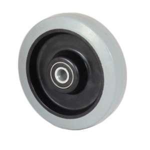 Koło poliamidowo-gumowe fi 125 mm szara oponka
