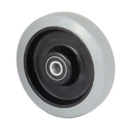Koło poliamidowo-gumowe fi 160 mm szara oponka