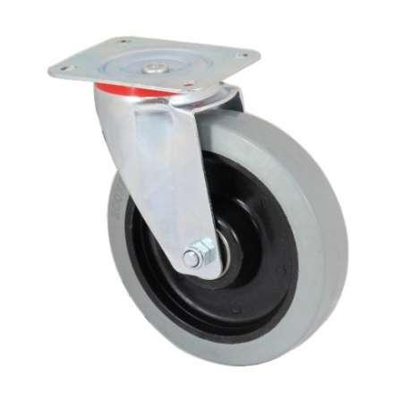Z kołem poliamidowo-gumowym szara oponka fi 125 mm