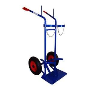Wózek dwukołowy spawalniczy na dwie butle gazowe
