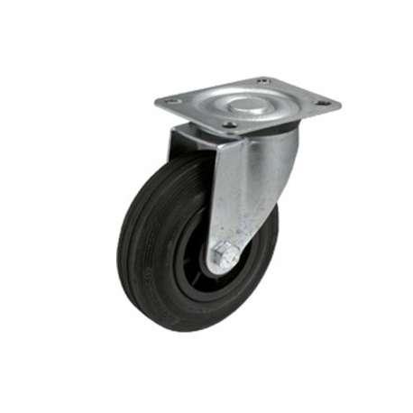 Koło poliamidowo - gumowe fi 80 mm na widelcu obrotowym