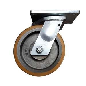 Zestaw obrotowy żeliwo - poliuretan fi 250 mm z podwójnym kołem
