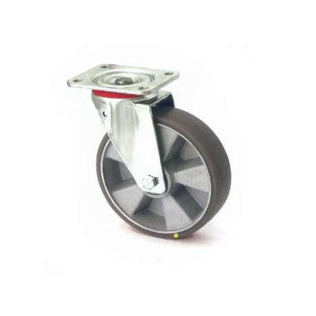 Koło antystatyczne fi 200 mm na widelcu obrotowym