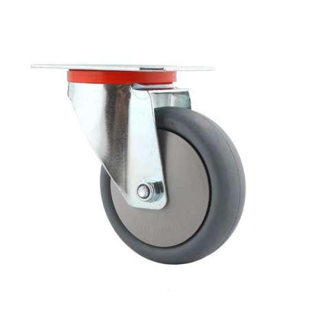 Koło obrotowe fi 125 mm do regału polipropylenowo gumowe