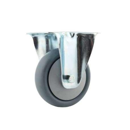 Koło polipropylenowo - gumowe fi 160 mm w obudowie stałej