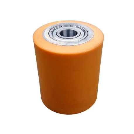 Rolka stalowo - poliuretanowa 82 mm x 95 mm do wózka paletowego