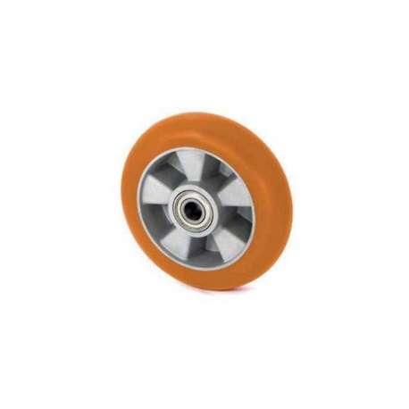 Koło aluminiowo - poliuretanowe fi 125 z ergonomiczną bieżnią