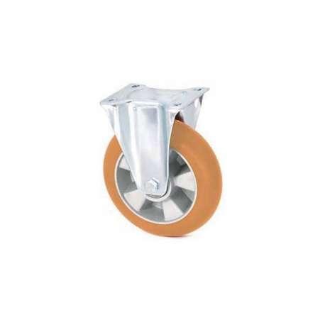 Koło aluminiowo - poliuretanowe fi 125 stałe z ergonomiczną bieżnią