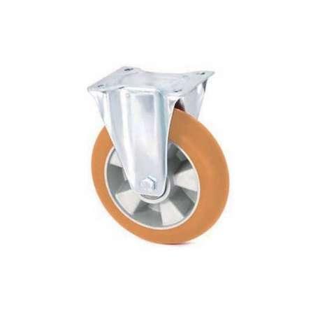 Koło aluminiowo - poliuretanowe fi 160 stałe z ergonomiczną bieżnią