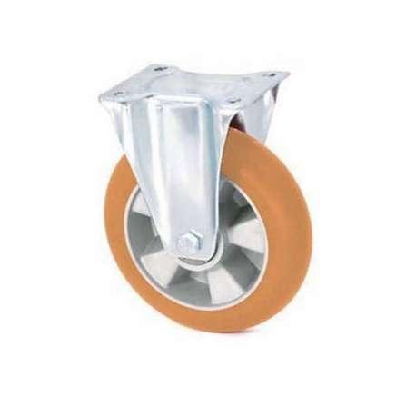 Koło aluminiowo - poliuretanowe fi 200 stałe z ergonomiczną bieżnią