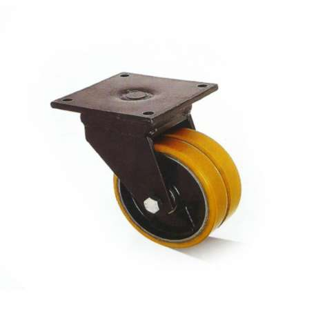 Koła żeliwno - poliuretanowe fi 250 w obudowie obrotowej