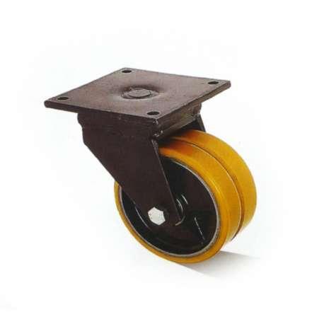 Koła żeliwno - poliuretanowe fi 300 w obudowie obrotowej