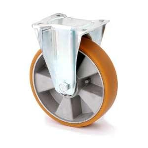 Zestaw stały fi 125 mm - koło aluminiowo - gumowe