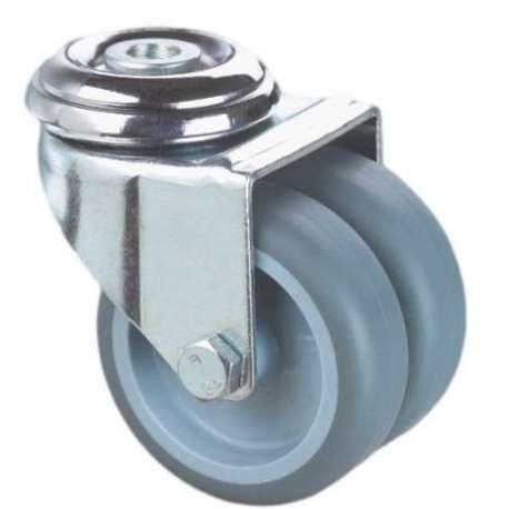 Zestaw mocowany na otwór poliamid guma szare fi 75 podwójne