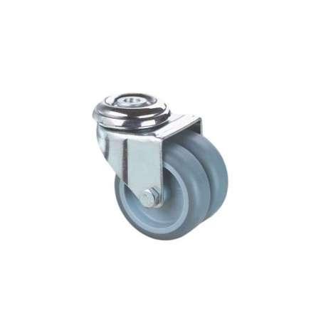 Zestaw mocowany na otwór poliamid guma szare fi 50 podwójne