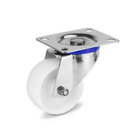 Zestaw kołowy nierdzewny obrotowy fi 125 mm
