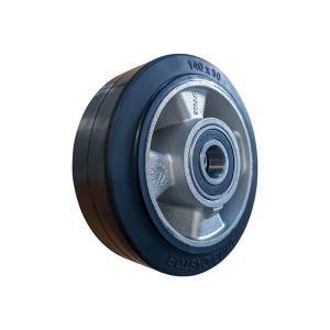 Koło aluminiowo - gumowe fi 140 mm