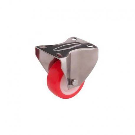 Koło nierdzewne stałe fi 80 mm poliamidowo - poliuretanowe