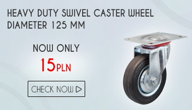 HEAVY DUTY SWIVEL CASTER WHEEL DIAMETER 125 MM