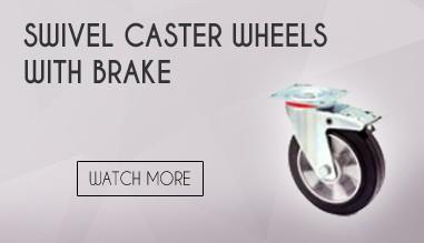 SWIVEL CASTER WHEELS WITH BRAKE